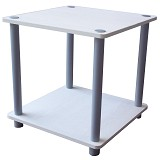 FUNIKA 2 Tier Mini Square Shelf [11214] - White/Grey Tubes - Rak Mini